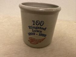 Antique Red Wing Stoneware Advertising Blue Band Beater Ringsted, Iowa 1899-1999