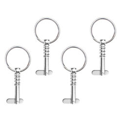 4x Marine Bimini Top Frame Quick Release Spring Pins 1/4 W/ Pull Ring