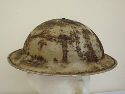Original Wwii British South African Desert Brodie Helmet And Liner Dated 1939.