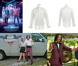 Bill And Ted 3 Face The Music 2020 - Keanu Reeves Movie Tuxedo Shirt W/coa