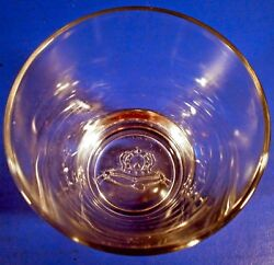 8 Crown Royal Bar Glasses Old-fashioned Rocks Italy Heavy Embossed Base