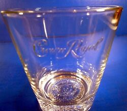 6 Crown Royal Bar Glasses Old-fashioned Rocks Embossed On Inside Wall And Base