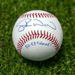 Duane Ward Signed Official Mlb Major League Baseball With 92/93 Champs Note