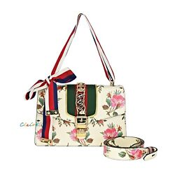 Nwt Authentic Small Sylvie Floral Leather Shoulder Bag