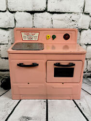 Pink 1950's Empire Little Lady Child's Electric Stove And Oven Works +accessories