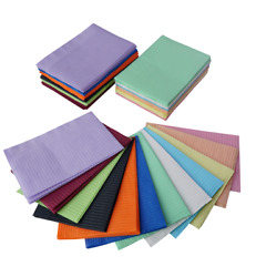 Disposable Patient Dental Bibs Assorted Colors, Tattoo Nail Table Paper Towels