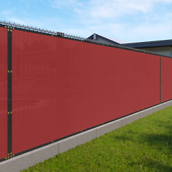 11ft Red Fence Privacy Screen Commercial 95 Blockage Mesh Fabric W/gromment