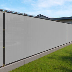 10ft Gray Fence Privacy Screen Commercial 95 Blockage Mesh Fabric W/gromment
