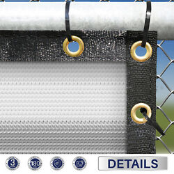1ft Gray White Fence Privacy Screen Commercial 95 Blockage Mesh W/gromment