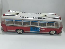 Mf 910 Airport Limousine Bus Friction Tin Toy China 37 Cm Long