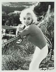 Marilyn Monroe Signed George Barris Large Limited Ed Pin-up Photo Last Sitting