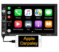 Double 2 Din 7 Car Apple/andriod Car Play Touch Screen Stereo Bluetooth Radio