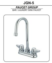 Just Mfg Jgn-5 Bar Sink Faucet Two Handle 4 Centerset High-arch Usa Made Nice