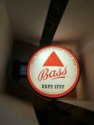 Bass Beer Pale Ale Bar Sign Double Sided Light Up Pub Sign Guinness Brewery New