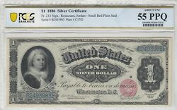 1 1886 Silver Certificate Pcgs Banknote About Unc 55 Ppq Witter Coin