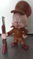 Extremely Rare Looney Tunes Elmer Fudd Standing With Rifle Big Figurine Statue