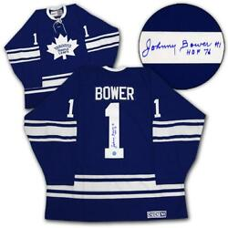 Johnny Bower Toronto Maple Leafs Signed 1967 Stanley Cup Ccm Jersey