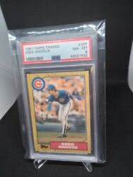 1987 Topps Traded Greg Maddux #70T Rookie RC PSA 8