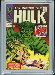 Incredible Hulk 102 Cbcs Like Cgc 9.0 Owtw Pages 1st Issue