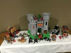 1994 Fisher Price Great Adventures Medieval Castle Playset 7110 With Extras