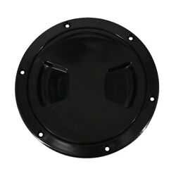 Black Plastic Deck Plate 5inch Waterproof Inspection Screw Type For Sailboat