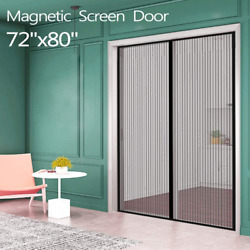 Magnetic Screen Door Sliding Pest Control Magic Mesh Insect Curtain Panel Net