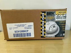 Lot Of 5 Brk Ac-powered 6-pack Smoke And Carbon Monoxide Alarms Sc9120b
