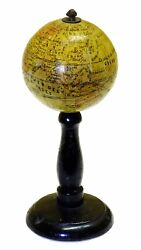 1830 - Important French Globe Anonymous Miniature Or Pocket Globe 6cm