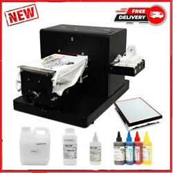 New A4 Flatbed Printer Multicolor A4 Size Dtg For T-shirt Directly To Print Dark
