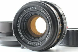 Near Mint Leica Summicron-m 35mm F/2 6 Elements M Mount Lens From Japan