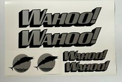 4 Wahoo Boat Decals Two 24x4.5 And Two 10 X2.5 Real Marine Vinyl