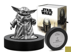 The Child The Mandalorian 150g Sterling Silver Miniature Nz Mint - In Stock