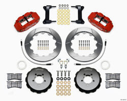 Wilwood Fnsl6r Front Hat Kit12.88 Red 2012-up For Toyota / Scion Frs W/ Lines