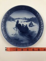 Fetching The Christmas Tree 1964 Royal Copenhagen Collector Plate Vintage