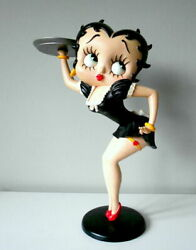 Extremely Rare Betty Boop Sexy Waitress In Black Dress Big Figurine Statue