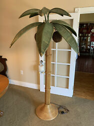 Coconut Palm Tree Floor Lamp 1970and039s Style Of Mario Lopez Torres
