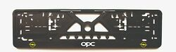 2x European License Number Plate Frame Holder Surround For Opel Opc Cars