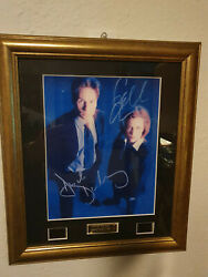 Extremely Rare The X Files Mulder And Scully Autographs And Cells Le Of 500