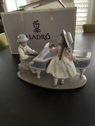 Lladro Black Legacy 5930 'jazz Duo' Boy At Piano With Girl Singer Figurine