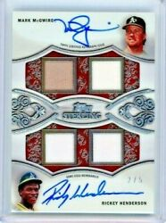 Mark Mcgwire And Rickey Henderson 2021 Topps Sterling Dual Autograph Relic 2/5 As