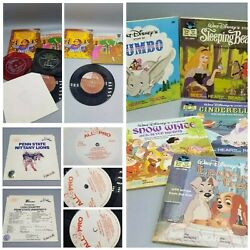 Vintage Books And Records Mcdonald's Penn State Disney 1/3, 45 Rpm Mixed Lot Of 20
