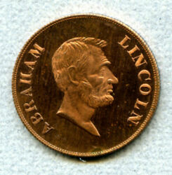Abraham Lincoln Swastika Medal Copper 32 Mm Reeded Edge Good Luck Don't Worry