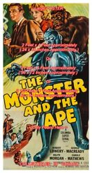 Monster And The Ape 1956 Robot Sci-fi Lowery = Poster 3 Sizes 4 / 6 / 7 Feet