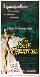 She-creature 1956 Marla English Monster Sci-fi =poster 3sizes 4 Ft / 6 Ft / 7 Ft