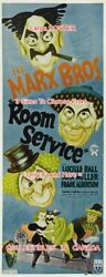 Room Service 1938 Marx Bros. Lucille Ball = Poster 3 Sizes 6 Ft / 9 Ft / 10.5 Ft