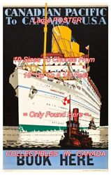 Canadian Pacific 1933 Empress Of Britain Boat = Travel Poster 10 Sizes 18 - 54