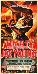 Mighty Joe Young 1949 Gorilla Terry Moore = Poster 3 Sizes 4 Ft / 6 Ft / 7 Ft