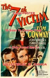 7th Victim 1943 Tom Conway Noose Kim Hunter = Movie Poster 10 Size - 18 - 6 Ft