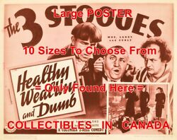 3 Three Stooges 1938 Healthy Wealthy And Dumb Ears = Poster 10 Sizes 17-4.5 Ft
