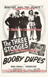 Booby Dupes 1945 Three Stooges Beauties Beasts =poster 10 Sizes 17 - 5 Ft And 10
